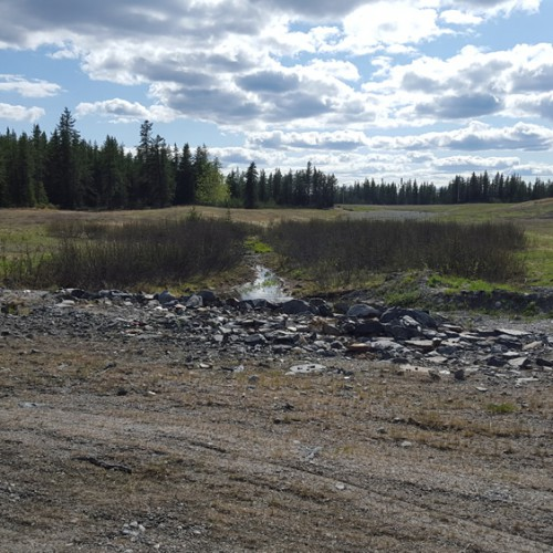 Tailings Pond Spillway Decant Pond