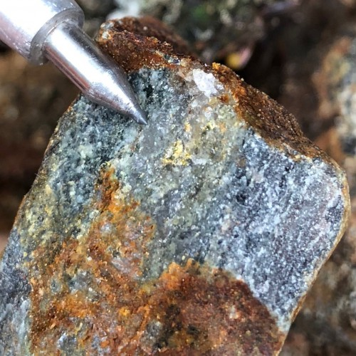 Visible gold found during the 2018 Exploration Program