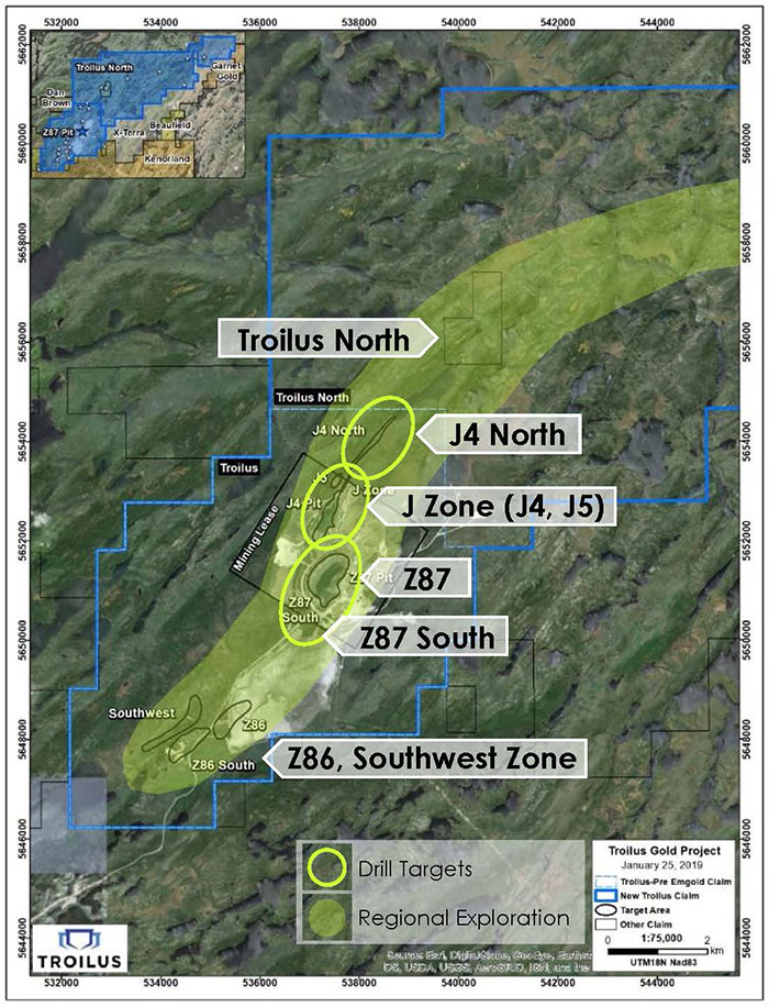 Troilus Property Geology and Exploration Targets