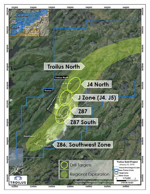 Troilus Property and  Exploration Targets